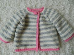 Knit Handmade Baby Girl Spring Sweater/Cardigan by RodiAndSuzi, $36.00