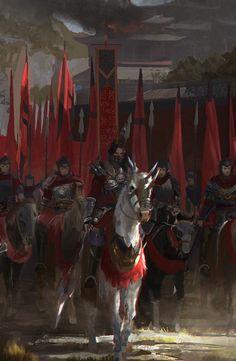 Fantasy Art Watch — Battle Horse by Shin W Fantasy Warrior, Fantasy Battle, High Fantasy, Fantasy Rpg, Dark Fantasy Art, Medieval Fantasy, Warrior Angel, Final Fantasy, Fantasy Concept Art