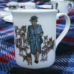 the Queen and her corgis! Diamond Jubilee mug! love!