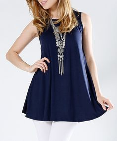 This 42POPS Navy Swing Tank - Plus by 42POPS is perfect! #zulilyfinds
