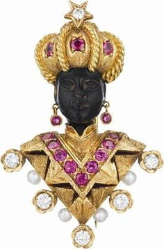 Nardi Blackamoor brooch