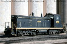 Indiana Harbor Belt RR 8785, NW2, Class DES-13g, was built by Electro-Motive in September 1949, #7196, FN E1043-12.  It was reclassified as Class ES-10m in 1966 and retired in November 1985.  It was sold as Minnesota Valley RR 8785 in 1989 and renumbered 428.  It was sold to Pioneer Railcorp as PREX 103.