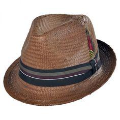ead2d2f2384 Jaxon Hats Tribeca Toyo Straw Trilby Fedora Hat Straw Fedora