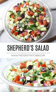 Factors You Need To Give Thought To When Selecting A Saucepan Shepherd's Salad Choban Salad - The Toasty Kitchen Cold Vegetable Salads, Vegetable Side Dishes, Vegetable Recipes, Healthy Side Dishes, Side Dish Recipes, Turkish Salad, Greek Chickpea Salad, Whole Food Recipes, Healthy Recipes