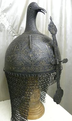 Copy of OTTOMAN TURKISH ISTANBUL ISLAMIC WARRIOR HELMET BIRD