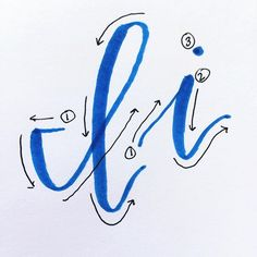 Day 9: Ii i is a combination of basic strokes. Practicing the letter I is a great way to improve your thin/thick transition lines.  Be sure to hold your pen at about a 45 degree angle, so that the side of the pen touches the page for thick strokes. Pull u