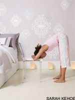 Yoga Poses to help alleviate cold and flu symptoms.