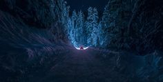 Great color! This breathtaking scene was photographed on Rila Mountain in Bulgaria, capturing the essence of a cold winter drive through the snow-covered mountains. The freezing landscape glows blue as a lone car passes through an isolated road. Rebeka  Rodin