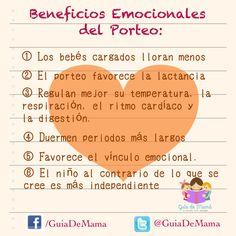 Conoce los beneficios del porteo en los bebés!