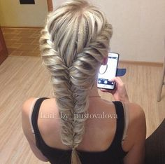 #thick #braided #fishtail