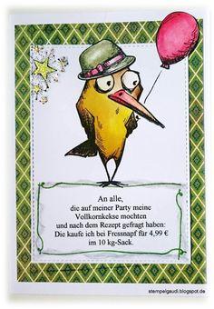 ' Stempelgaudi ': Bird Crazy - #20 - ... Adebert und die Party-Cracker ...