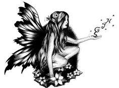 47 Ideas Fairy Tattoo For Women Faeries Tribal Tattoo Designs, Fairy Tattoo Designs, Tattoo Designs For Girls, Best Tattoos For Women, Trendy Tattoos, New Tattoos, Tattoos For Guys, Crazy Tattoos, Foot Tattoos