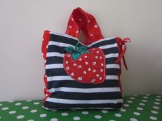 Strawberry mini shopper    £15.00  facebook.com/happy.hayes.bespokebagsandaccessories  SOLD