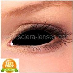 Black Sclera Contact Lenses (1 pair)