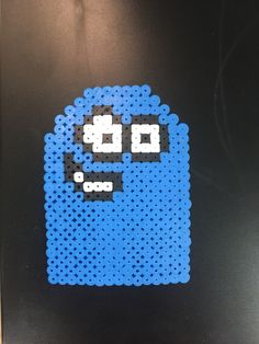 Perler bead art. Bloo from fosters home for imaginary friends