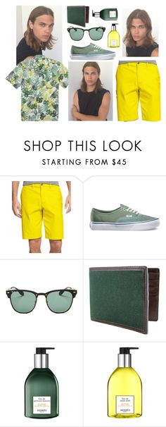 """#5"" by dndmaulinda on Polyvore featuring Tommy Hilfiger, Vans, Ray-Ban, The British Belt Company, Hermès, men's fashion and menswear"