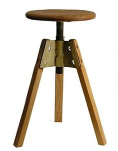 Vintage French Stool. Love the sculptural quality.  (quintessentia - no longer on its site)