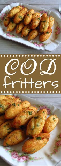 This typical Portuguese recipe of cod fritters is appreciated by all, can be served with lettuce salad or with a delicious tomato rice. Fish Dishes, Seafood Dishes, Fish And Seafood, Seafood Recipes, Gourmet Recipes, Cooking Recipes, Healthy Recipes, Fish Recipes Rice, Tomato Rice