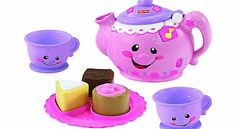 "Fisher-Price Say Please Tea Set Share a pot of tea""with two cups, three tasty treats, and plenty of songs, sounds and fun phrases to go around. Introduce the delights of pretend play while helping baby learn about counting, shapes,  http://www.comparestoreprices.co.uk/baby-toys/fisher-price-say-please-tea-set.asp"
