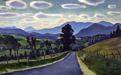 Mountain Roads, 1960 by Rockwell Kent on Curiator, the world's biggest collaborative art collection. Rockwell Kent, Norman Rockwell, Road Painting, Painting & Drawing, Painting Canvas, Landscape Mode, Collaborative Art, Portraits, Art For Art Sake