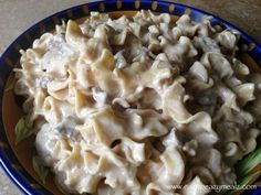 Crock Pot Beef Stroganoff I used half and half instead of milk and added 4 over flowing table spoons of sour cream . It was so good!