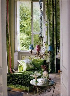 loveliegreenie Boho - forest and Tricia Guild.