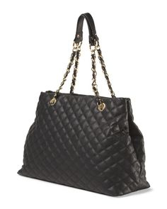 Quilted Tote With Chain Handle $30 Tj Maxx