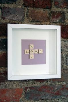 I'm convinced our local chain thrift shops are owned by scrapbookers and DIY'ers because I've checked at LEAST 20 times for old donated Scrabble games and there has never been a single one... This would be perfect for our upstairs bathroom!