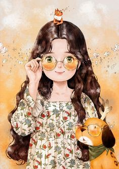 Find images and videos about girl, wallpaper and dog on We Heart It - the app to get lost in what you love. Cute Cartoon, Cartoon Art, Her Wallpaper, Mode Poster, Forest Girl, Polychromos, Anime Art Girl, Art And Illustration, Love Art
