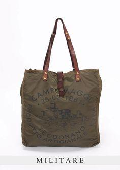 S.CURVE.STUDIO. | Rakuten Global Market: CAMPOMAGGI Tote campomaggi nylon bags shoulder bag 2-WAY bag men and women and for C3912 VEVLTC MILITARE/NERO