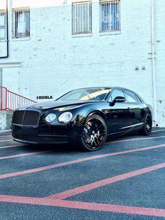 Black Chrome Car Wrap   RDBLA – 2015 Bentley Flying Spur Black Out