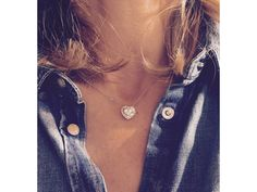 We Love the Crystalline Heart Diamond Necklace in 18ct Gold