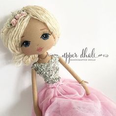 Tiny dancer with her sparkly sequin bodice and long flowing tutu Homemade Dolls, Ballerina Doll, Doll Shop, Sewing Toys, Waldorf Dolls, Fairy Dolls, Doll Hair, Soft Dolls, Custom Dolls