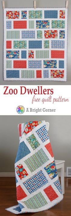 Zoo Dwellers free quilt pattern from A Bright Corner