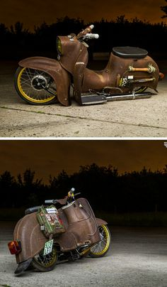 Scooter - Autos - Car World Motorcycle Design, Motorcycle Bike, Bike Design, Moped Scooter, Vespa Scooters, Custom Moped, Custom Bikes, Vintage Motorcycles, Custom Motorcycles