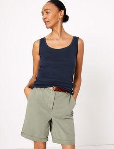 Pure Cotton Scoop Neck Vest Top   M&S Collection   M&S
