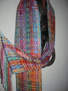 Handwoven Multicoloured Silk Scarf | Flickr - Photo Sharing!