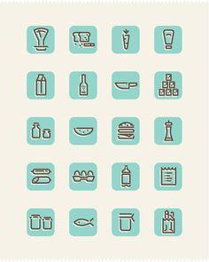 Grocery Icon Set by Omur Ozgur, via Behance