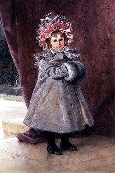 Famous paintings of Portraits: La Promenade: Portrait of Miss Eliza Conkling of New York, 1899