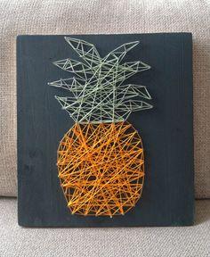 Happytime : DIY // Le tableau ananas en fil tendu #ananas #handmade #pineapple…
