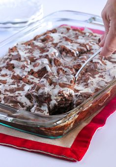 Gooey Chocolate Peppermint Bread Pudding - Picky Palate