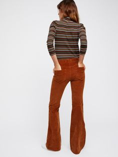 Rust Pull on Corduroy Flare at Free People Clothing Boutique