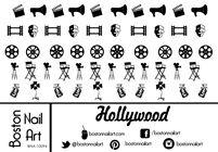 Hollywood Nail Decals - waterslide