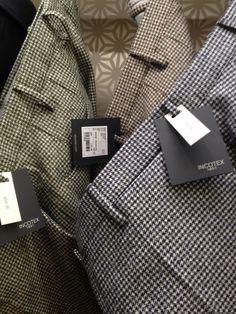 Incotex - wool houndstooth trousers - beautiful fabric