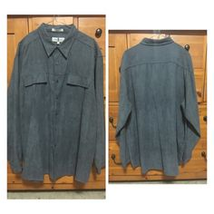 Men's XXL SHIRT BY Eighty Eight Men's dark grey shirt by Eighty Eight. 100% polyester. Made in Hong Kong. Size XXL. Perfect condition. Only worn once. Eighty Eight Tops Button Down Shirts