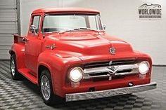 Vintage Trucks, Old Trucks, Chevy Trucks, 1956 Ford Truck, 1956 Ford F100, Classic Pickup Trucks, Ford F Series, Big Windows, Street Rods