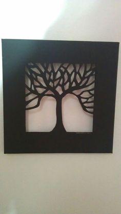 Canvas cut out...