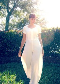 White Linen Holly Jumpsuit, pattern: By Hand London, fabric: hemp linen from Organic Cottons Plus , Sew Pomona By Hand London, Pattern Making, Dressmaking, My Wardrobe, Organic Cotton, Sewing Projects, White Dress, Holly Holly, Formal Dresses
