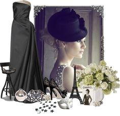 """Seen in Black and White"" by staciegh ❤ liked on Polyvore"