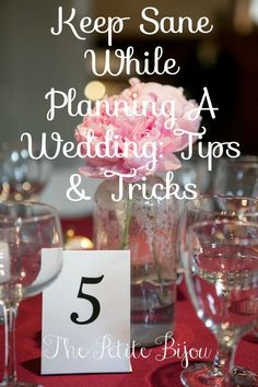 Keep Sane While Planning A Wedding - Tips & Tricks for brides that are in the midst of wedding planning!  The Petite Bijou - www.thepetitebijou.com